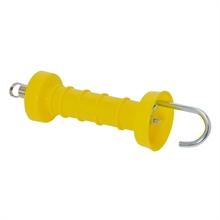 Poortgreep compact, geel met haak