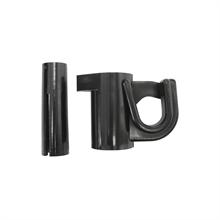 25x VOSS.farming klemisolator voor glasvezelpaal 10mm, isolator voor draad, koord en lint (geschikt voor glasvezelpaal 44474)
