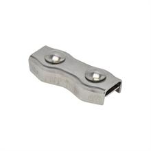 5x koordverbinder RVS, dubbele RVS verbinder voor koord tot 8mm 5 stuks verpakking