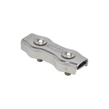 5x koordverbinder RVS, dubbele RVS verbinder voor koord tot 6mm 5 stuks verpakking