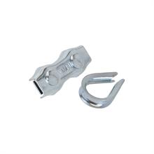 3x koord aansluitset verzinkt, aansluitset voor koord tot 6mm 3 stuks verpakking