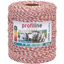 VOSS.farming schrikdraad 1000 meter, wit rode draad met 8x 0,2 RVS en 1x 0,25 koper geleiders