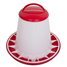 Pluimvee voederbak voerhopper voor maximaal 3 kg voer, voerbak met deksel