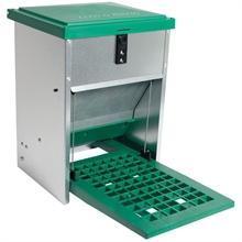 Feedomatic - automatische voederbak, trapbak, voederhopper voor pluimvee met pedaal voor maximaal 5 kg voer