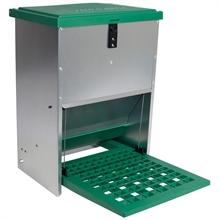Feedomatic - automatische voederbak, trapbak, voederhopper voor pluimvee met pedaal voor maximaal 12kg voer