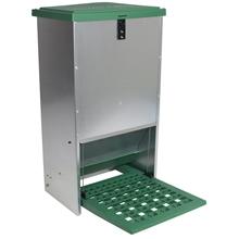 Feedomatic - automatische voederbak, trapbak, voederhopper voor pluimvee met pedaal voor maximaal 20kg voer