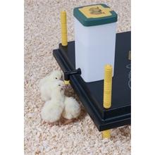 Drinkfles 1 liter voor kuikens met ophangbeugel en klapdeksel