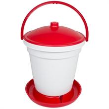 Automatische pluimvee drinkemmer 18ltr, rode pluimvee drinkbak