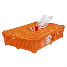 Transportkist voor pluimvee of vogels kunststof oranje