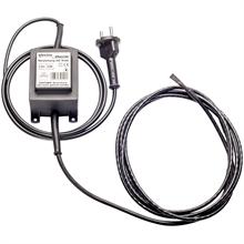 2,2 mtr warmtelint, 12V vorstbeschermingskabel, verwarmingslint met trafo