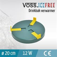 Verwarmingsplaat voor drinkbakken, 20cm, 24V / 12W