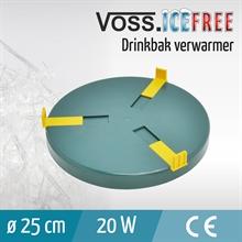 Verwarmingsplaat voor drinkbakken, 25cm, 24V / 20W