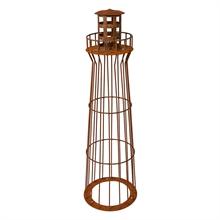 Vuurtoren, lichttoren, tuindecoratie, tuinfakkel, tuinverlichting 100cm hoogte roest design