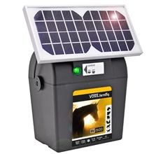VOSS.farming BV 2600 SOLAR 9V schrikdraadapparaat op batterij 9V en zonne-energie, Solarset