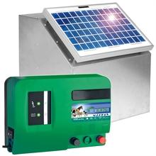 VOSS.farming Set: 10W Zonne-energie systeem + metalen kast + 12V Green Energy schrikdraadapparaat