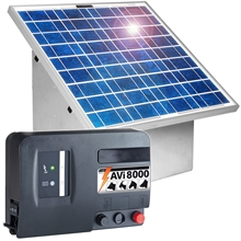 VOSS.farming Set: 30W Zonne-energie systeem + metalen kast + 12V AVi8.000 schrikdraadapparaat