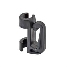 25x VOSS.farming klik isolator voor fiberglass prikpaal, klem isolator voor mobiele fiberglas afrasteringspaal voor draad, koord tot 6mm en lint tot 18mm