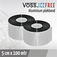 Alu-Plakfolie, 5cm x 100mtr, Vorstbescherming voor Vorstbeschermings Verwarmingskabel