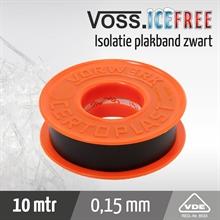 Isolatieplakband 10mtr x 15mm, certoplast 601 zwart