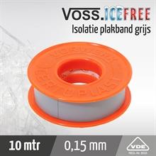 Isolatieplakband 10mtr x 15mm, certoplast 601 grijs
