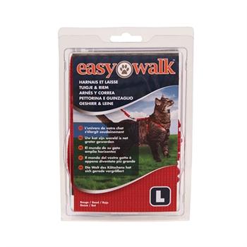 Easy Walk - Katzengeschirr mit Bungee-Leine, Large, rot