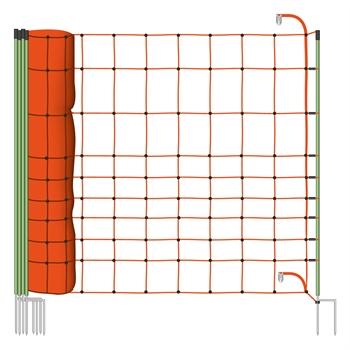 VOSS.farming Euronetz schrikdraadnet, wolfsnet 50 meter, 120cm, met dubbele pen en extra versteviging