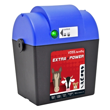 VOSS.farming extra power, 9V batterij 0,22 joule / 10.000 volt schrikdraadapparaat