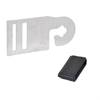 """4x poortgreepverbinder """"Litzclip®"""" voor schrikdraadlint tot 20mm."""