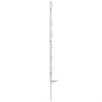 60x VOSS.farming ECO 86cm witte mobiele prikpaal, afrasteringspaal
