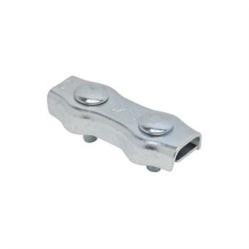 5x koordverbinder verzinkt, dubbele verzinkte verbinder voor koord tot 6mm 5 stuks verpakking