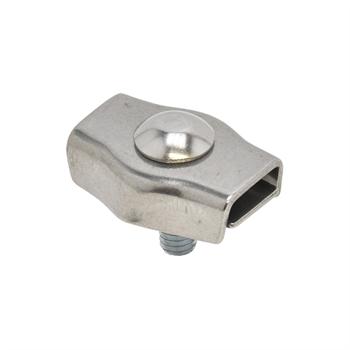 5x koordverbinder RVS, enkele RVS verbinder voor koord tot 6mm 5 stuks verpakking