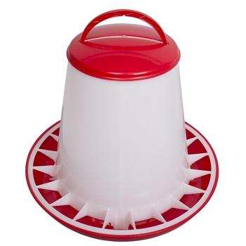 Pluimvee voederbak voerhopper voor maximaal 6 kg voer, voerbak met deksel