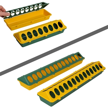 Kuiken voederbak, kunstof voedertrog 30cm of 50cm
