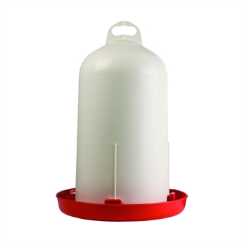 Dubbelwandige pluimvee drinkbak, 6L inhoud