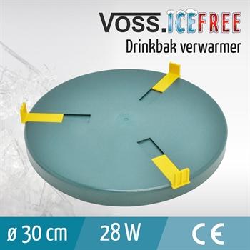 Verwarmingsplaat voor drinkbakken, 30cm, 24V / 28W