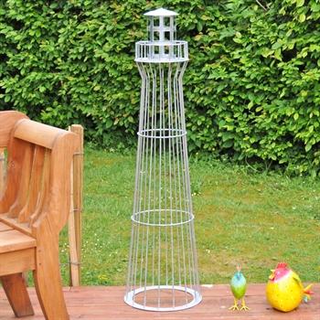 Leuchtturm 135cm verzinkt leuchtfeuer gartenbeleuchtung for Haus garten deko shop
