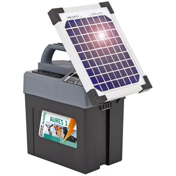 "VOSS.farming ""Aures 3 SOLAR"" schrikdraadapparaat 0,28joule, 10,200Volt (9V, 12V, 230V, solar) Combi schrikdraadapparaat"