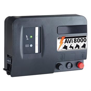 VOSS.farming AVI 8000, 12V accu 4,0 joule / 9.700 volt schrikdraadapparaat met digitale omheiningtester