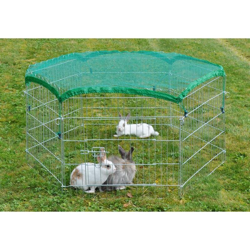 kaninchen auslauf welpenauslauf katzen zaun freigehege gehege kaninchenstall ebay. Black Bedroom Furniture Sets. Home Design Ideas
