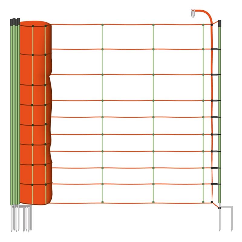 50m 106cm schafnetz schafzaun elektronetz schaf ziege schwein euronetz ebay. Black Bedroom Furniture Sets. Home Design Ideas