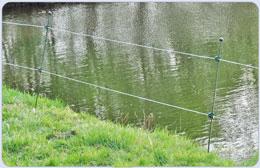 Teich set teichschutz reiherzaun reiherabwehr fischotter for Fischteich schutz