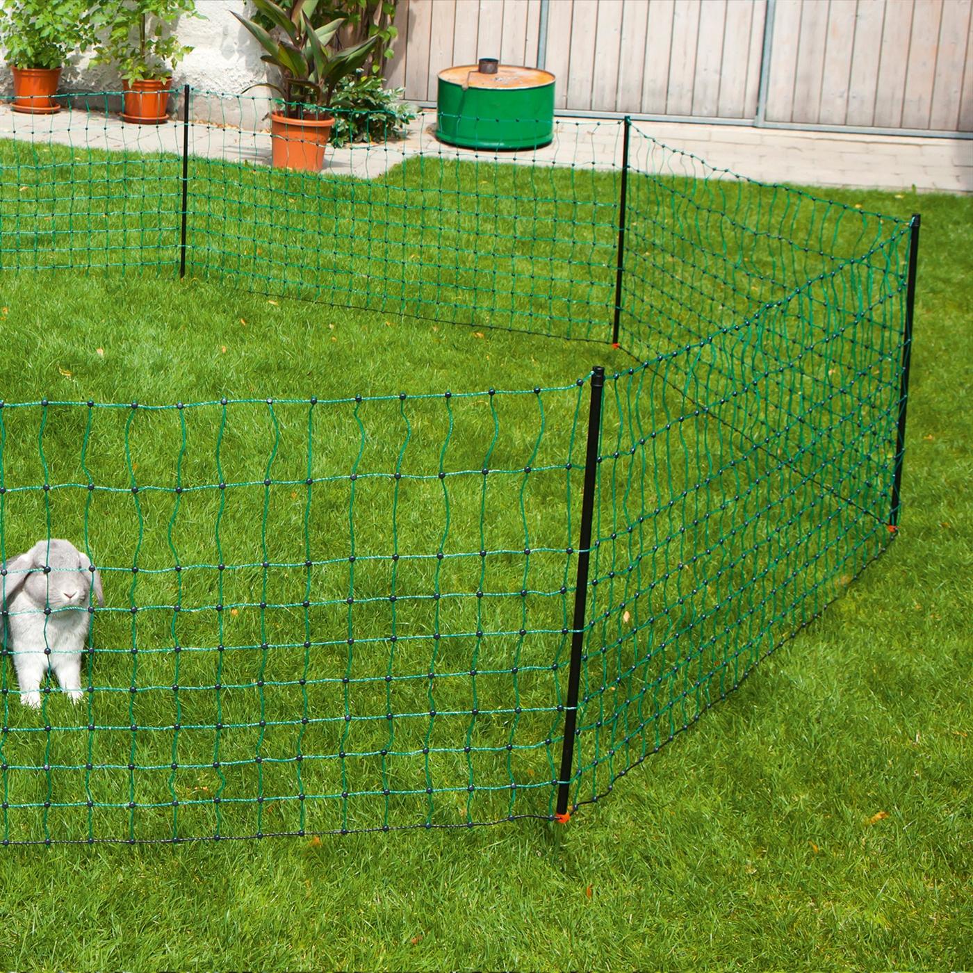12m elektronetz netz zaun hund katze kaninchen hase marder. Black Bedroom Furniture Sets. Home Design Ideas