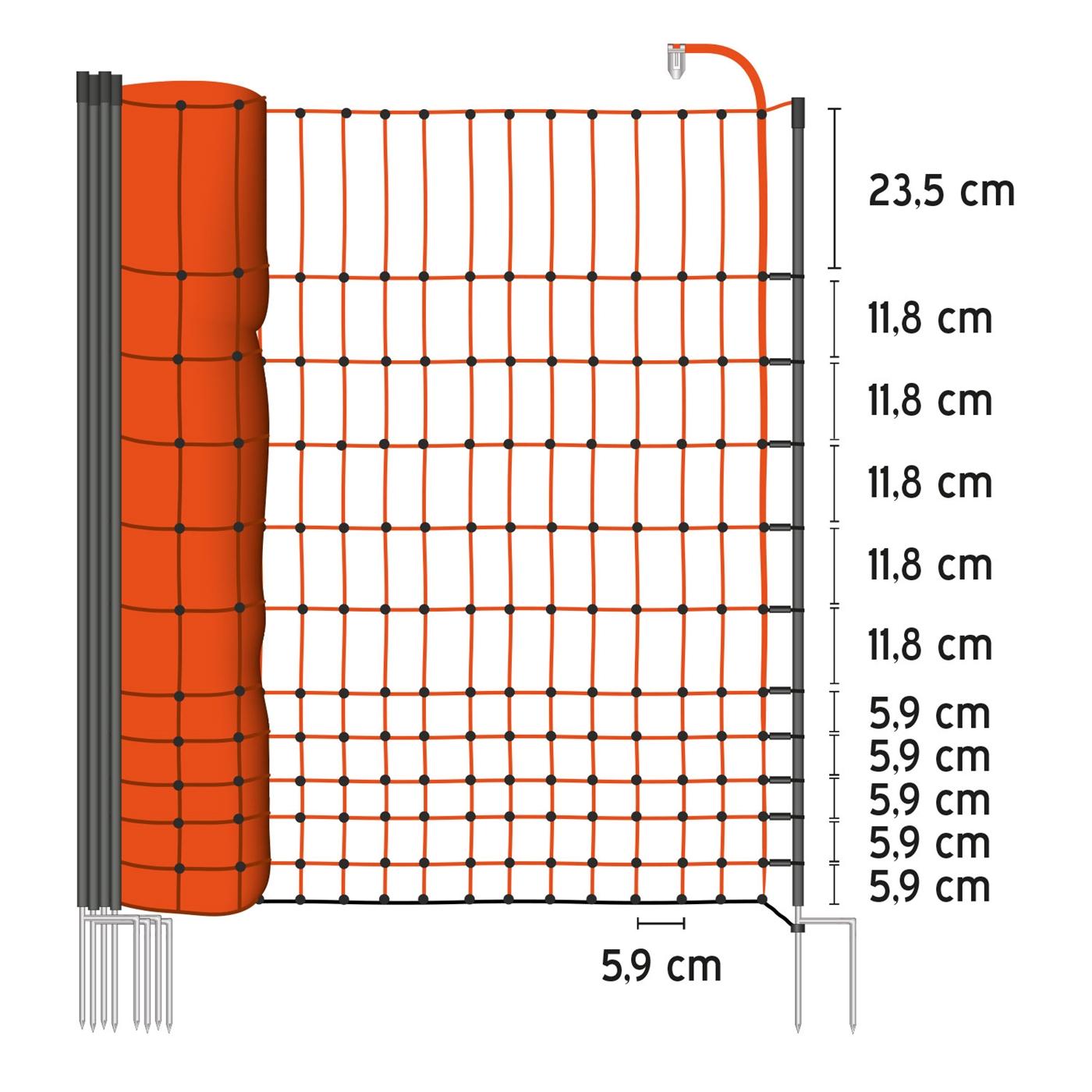 50m-Gefluegelnetz-farmNET-112cm-Hundenetz-Katzennetz-Gartensicherung-Weidezaun