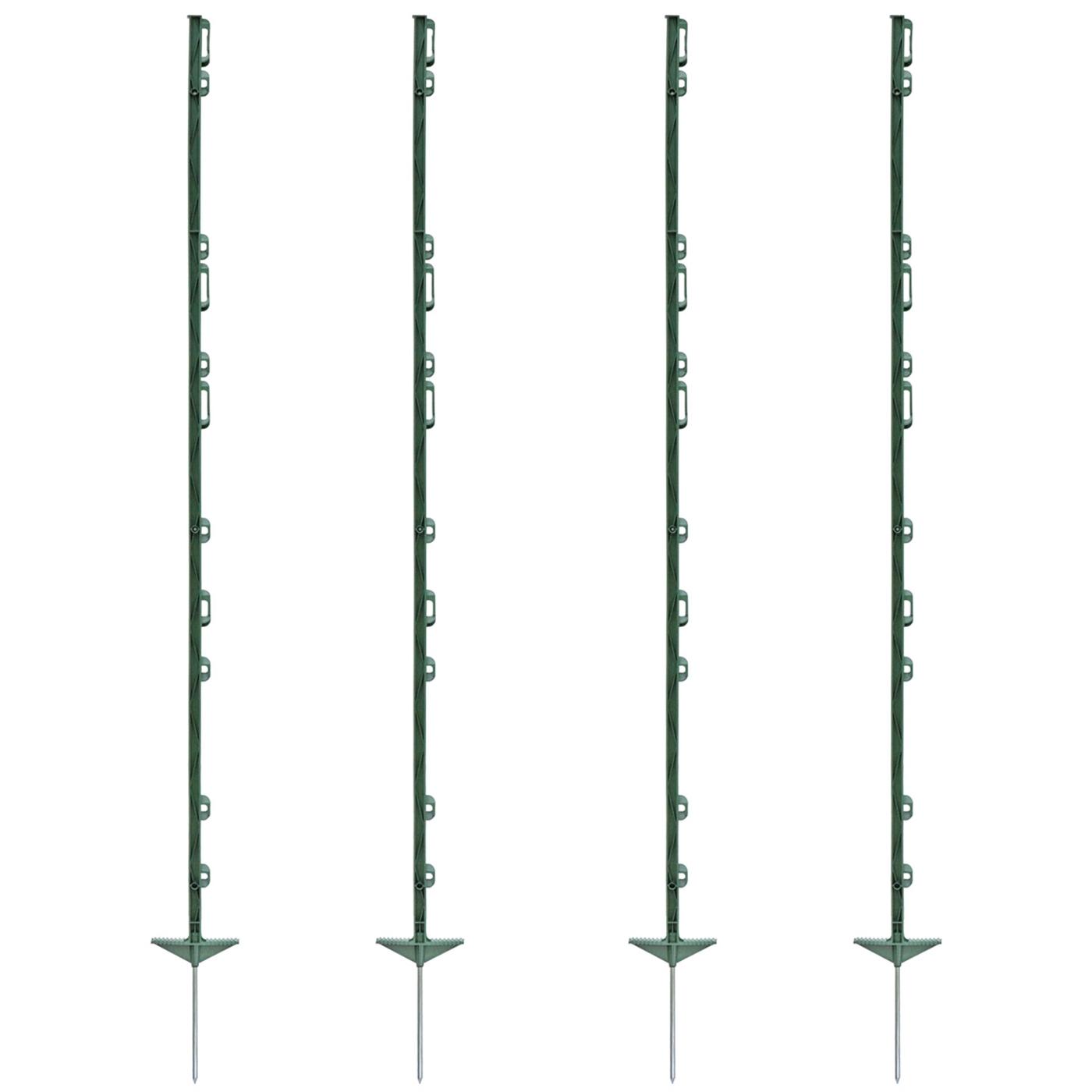 20x Weidezaunpfähle Kunststoffpfahl 125cm grün Koppelpfahl Weidezaun Elektrozaun