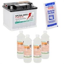 85Ah Spezialakku + 4L Batteriesäure + Pol-Fett