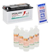 120Ah  Spezialakku + 6L Batteriesäure + Pol-Fett