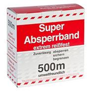 500m Absperrband, Signalband, Flatterband rot/ weiss