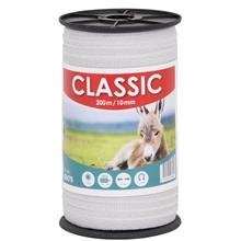 "Weidezaunband ""CLASSIC"" 200m, 10mm, 4x0,16 Niro, weiß"