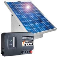 VOSS.farming Set: 50 W Solarsystem + Box + 12 V AVi10.000 Weidezaungerät