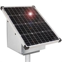 VOSS.farming 55W Solar Anti-Diebstahlkasten, Weidezaun, inkl. Aufstellpfahl + Zubehör